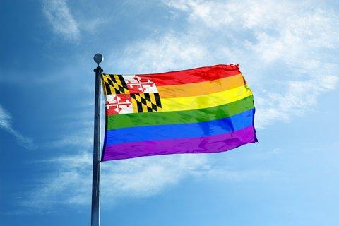 Maryland rainbow flag