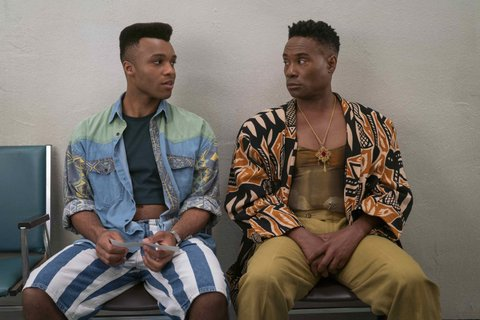 Dyllón Burnside as Ricky and Billy Porter as Pray Tell in Pose.