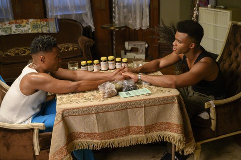 Billy Porter as Pray Tell and Dyllón Burnside as Ricky.