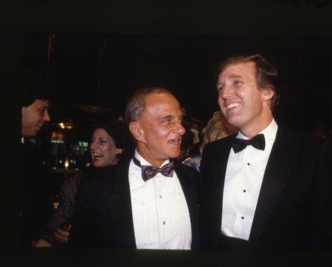 Roy Cohn and Donald  Trump.