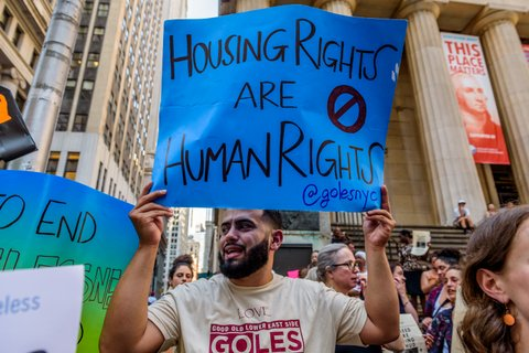 housing rights protest