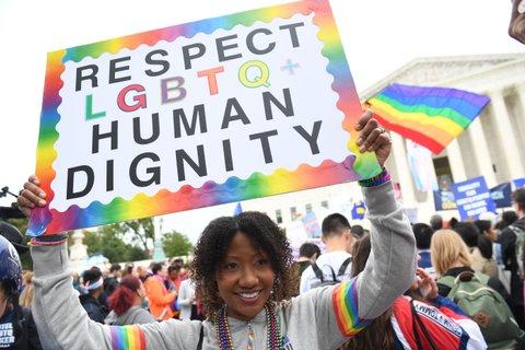LGBTQ rights protest SCOTUS
