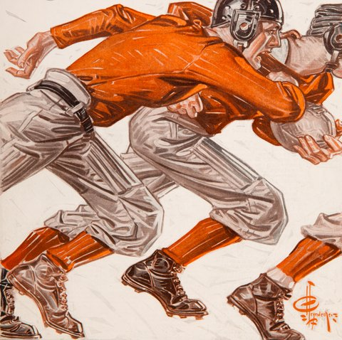 J.C. Leyendecker football players