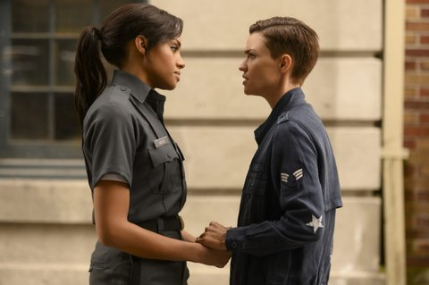 Meagan Tandy (left) and Ruby Rose in Batwoman.