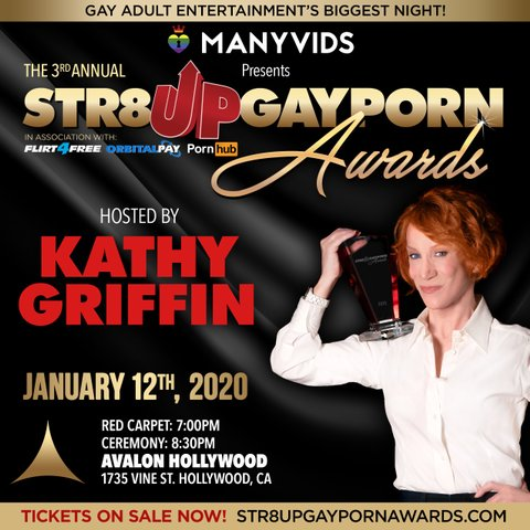 Str8UpGayPorn Awards 2020 hosted by Kathy Griffin.