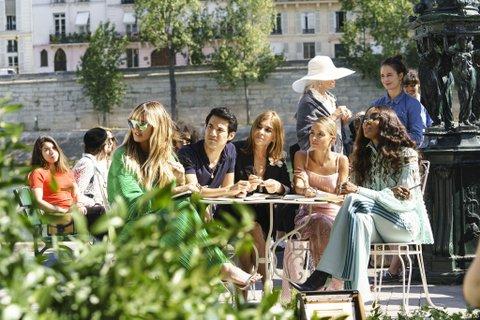 Heidi Klum, Joseph Altuzarra, Carine Roitfeld, Nicole Richie, and Naomi Campbell.