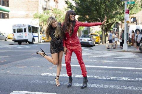Heidi Klum and Naomi-Campbell.