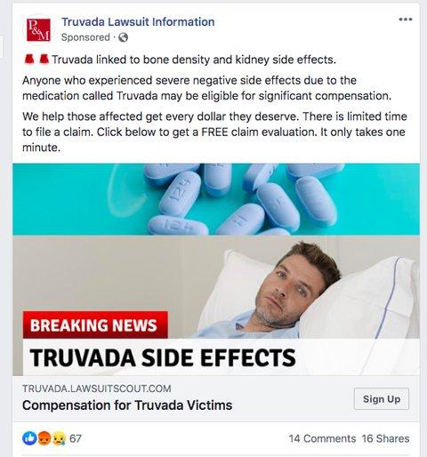 Truvada side effects ad
